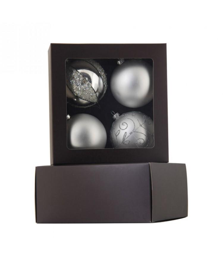 Sélect boules de noël 7cm Argent brilliant-1120
