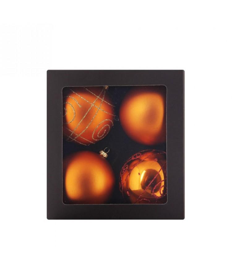 Sélect boules de noël 8cm Cuivre-1164