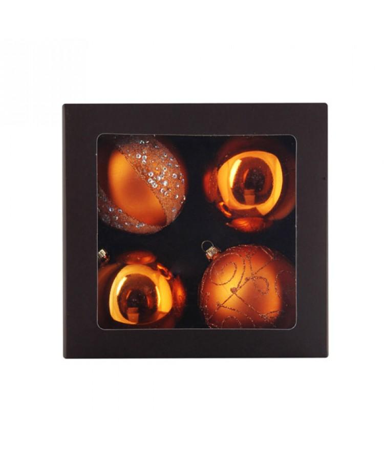 Sélect boules de noël 7cm Cuivre-1114