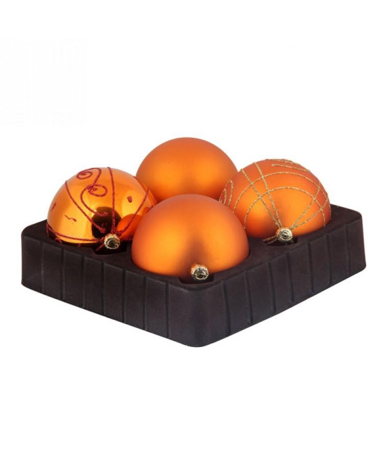 Sélect boules de noël 8cm Cuivre-0