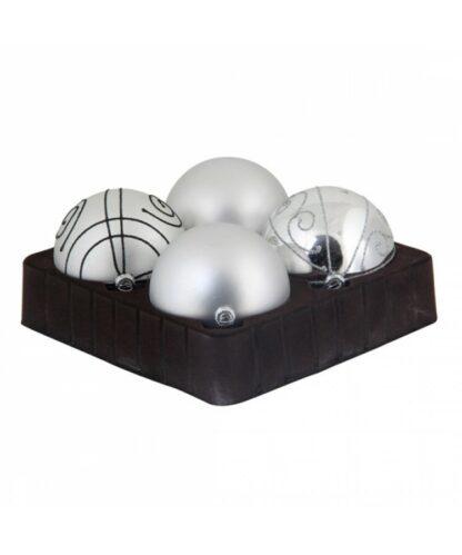 Sélect boules de noël 8cm Argent brilliant-0