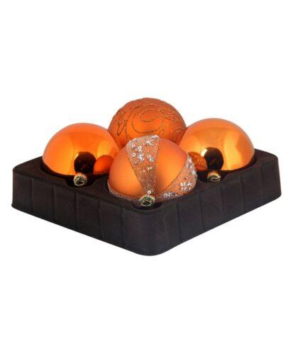 Sélect boules de noël 7cm Cuivre-0