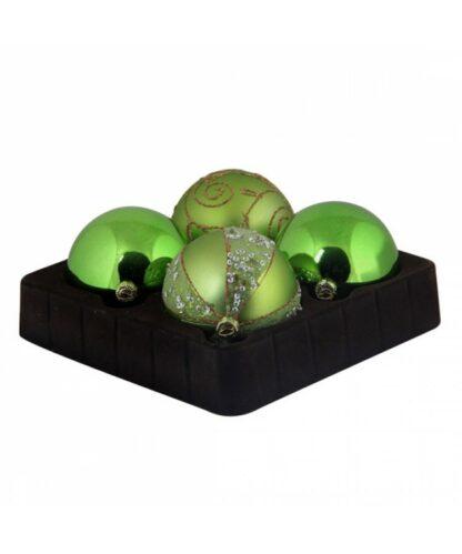 Sélect boules de noël 7cm Refreshing Green-0