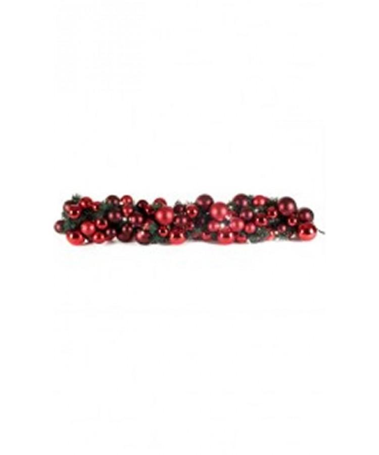 Guirlande de luxe Rouge Bordeaux 100cm-0
