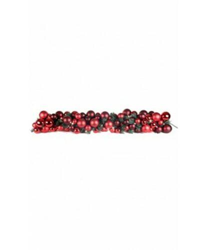 Guirlande de luxe Rouge Bordeaux 150cm-0