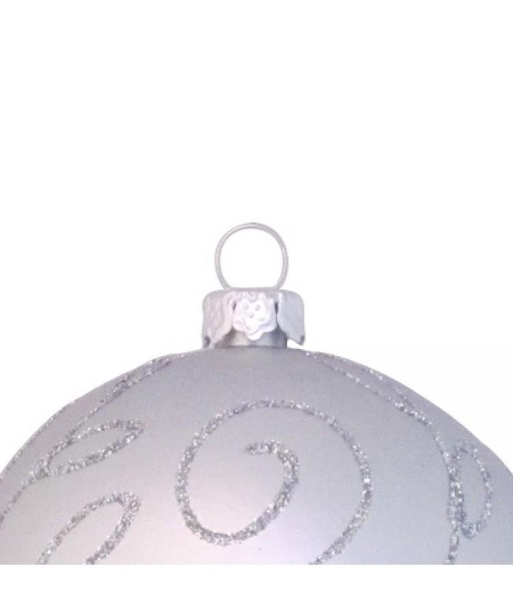 Sélect boules de noël 7cm Argent brilliant-1121