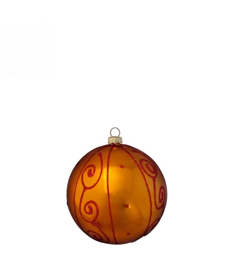 Sélect boules de noël 8cm Cuivre-1163